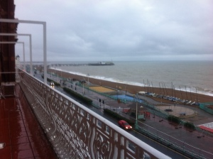Well, except for this bit of Brighton, also seen from my window! If you squint you can see the pier in the distance!