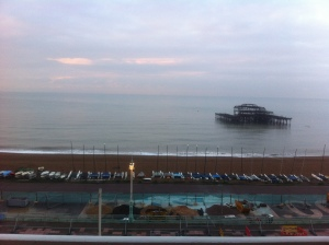 View from my window - the only bit of Brighton I saw!